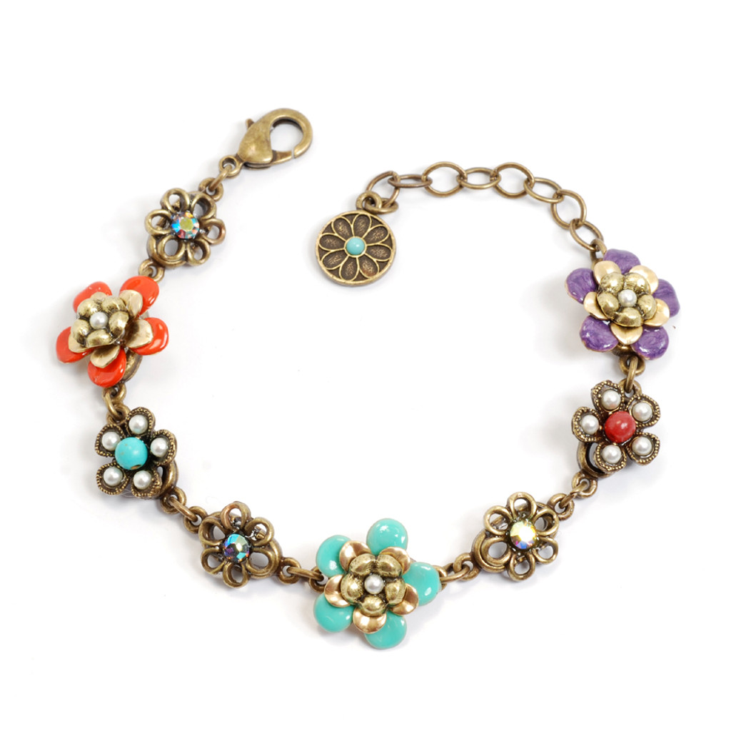 String Of Flowers Bracelet