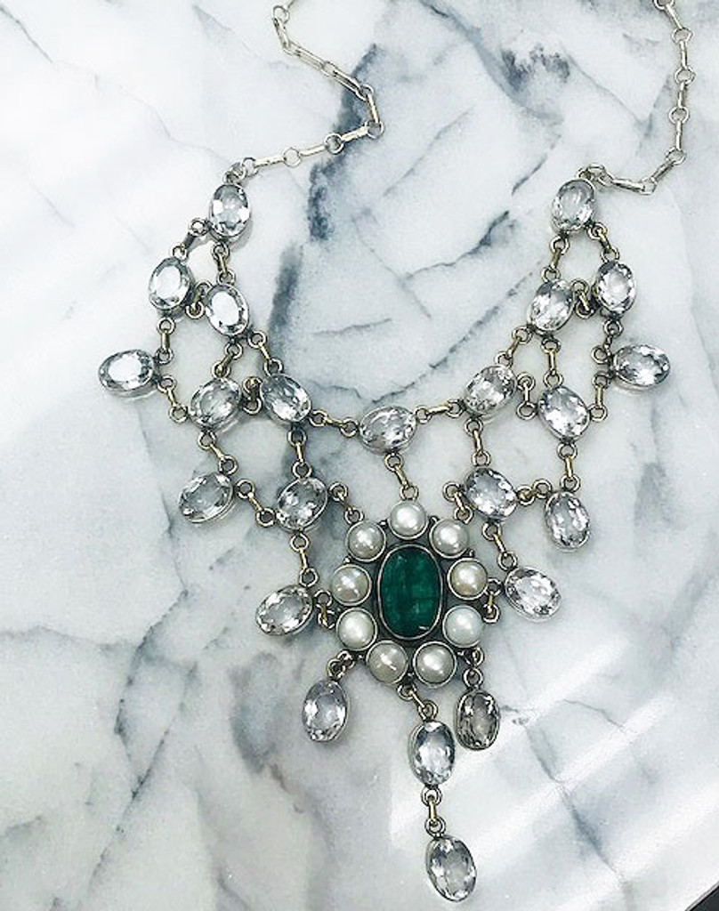 Vintage Inspired Heirloom Waterfall Necklace