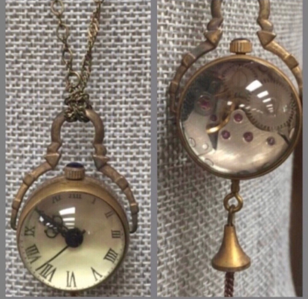 Vintage Magnifying Watch Ball Pendant
