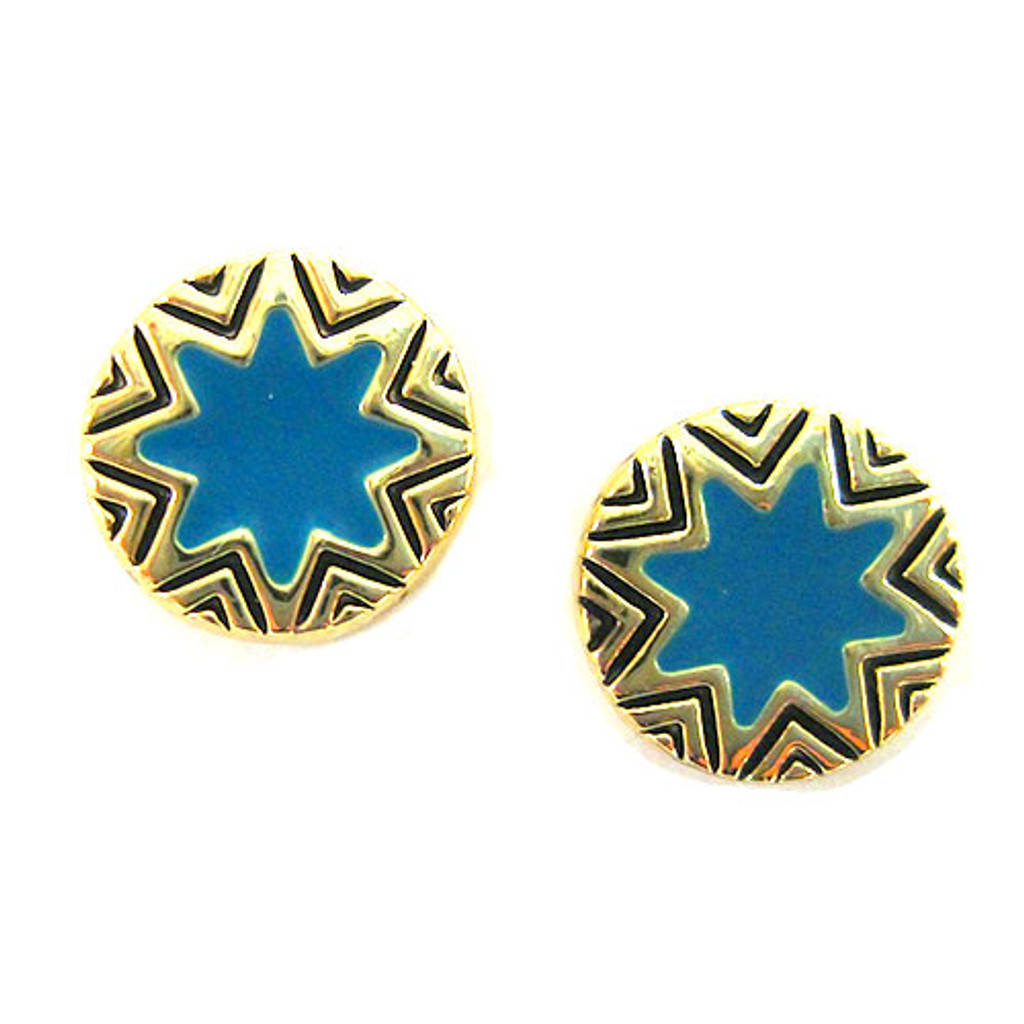 House of Harlow 1960 Mini Starburst Turquoise Stud