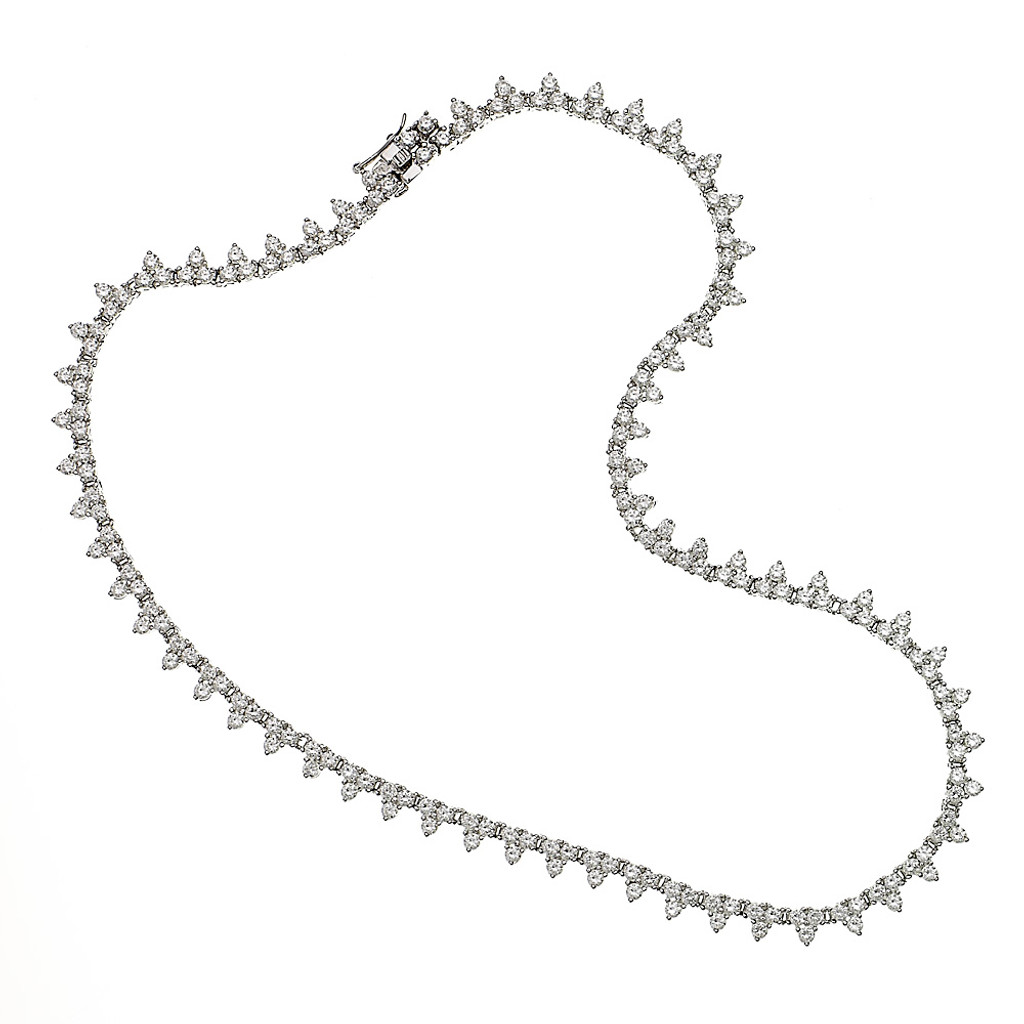 Points Of Brilliance Tennis Necklace