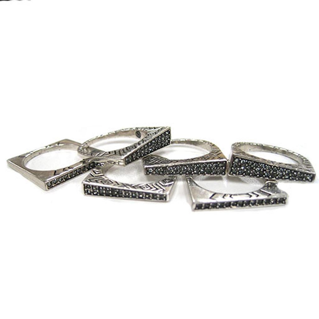 House of Harlow's Set of Six Modern Stackables
