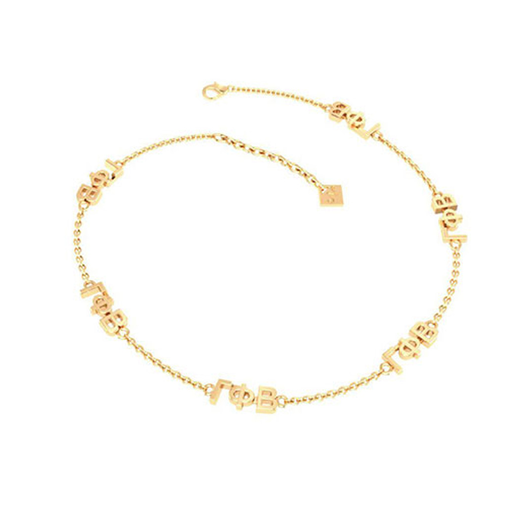 Gamma Phi Beta Gold Plated Multi Mini Bracelet