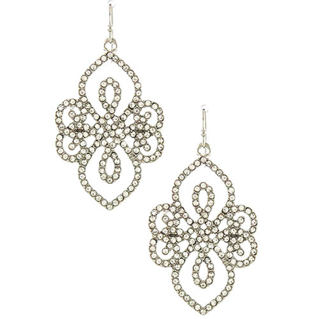 Fame and Fortune Crystal and Silver Dangle