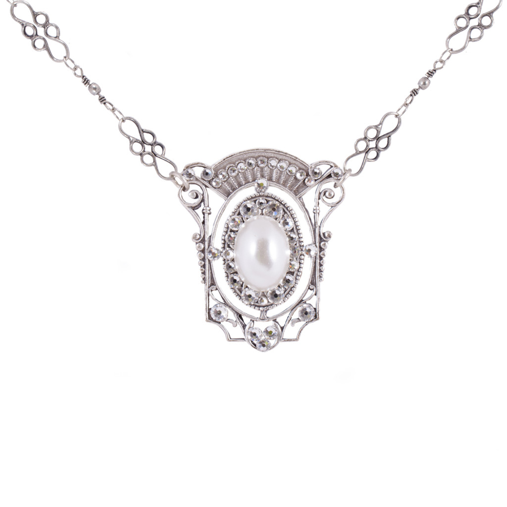 Pearl and Crystal Vintage Pendant