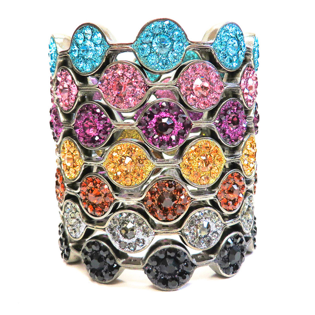Rock Candy Crystal Bangles GM-   (As seen in Oprah magazine)