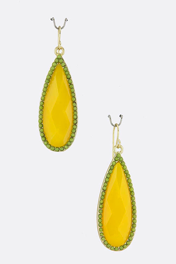 Yellow Teardrop Earring