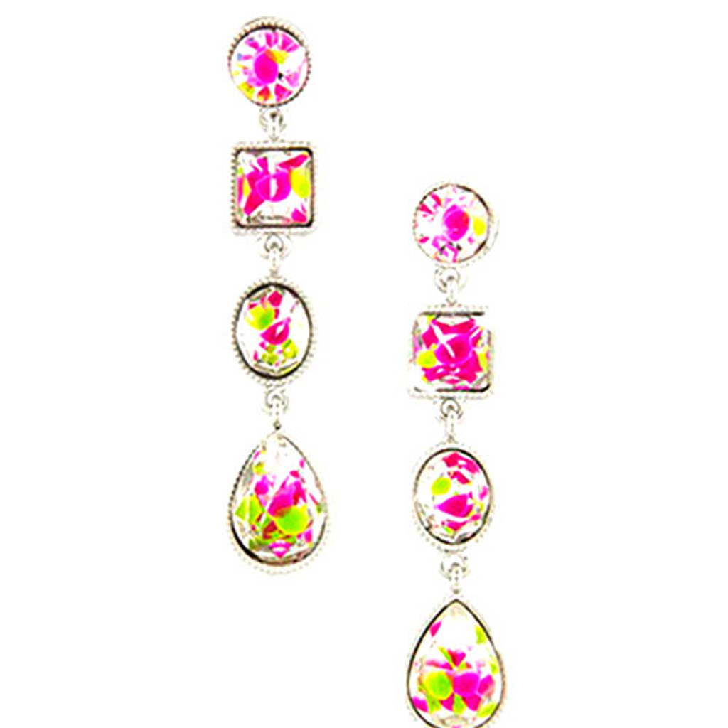 Firecracker Crystal Dangle Earring