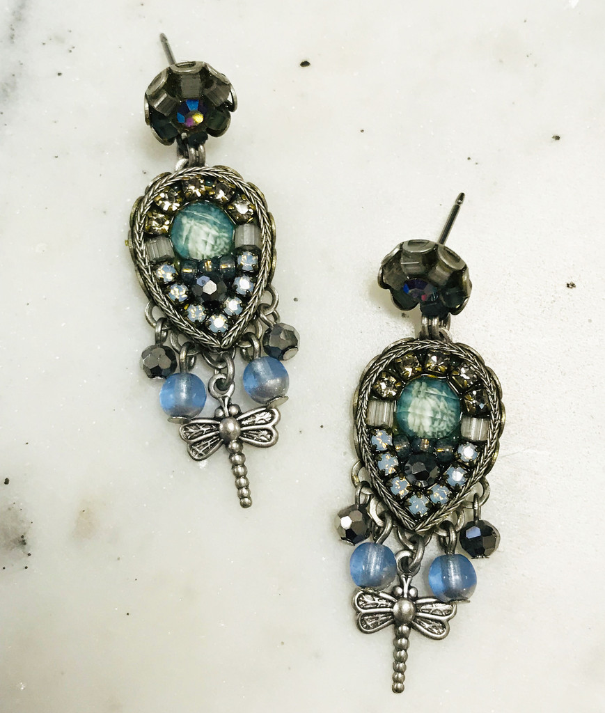 Dragonfly Drop Earring