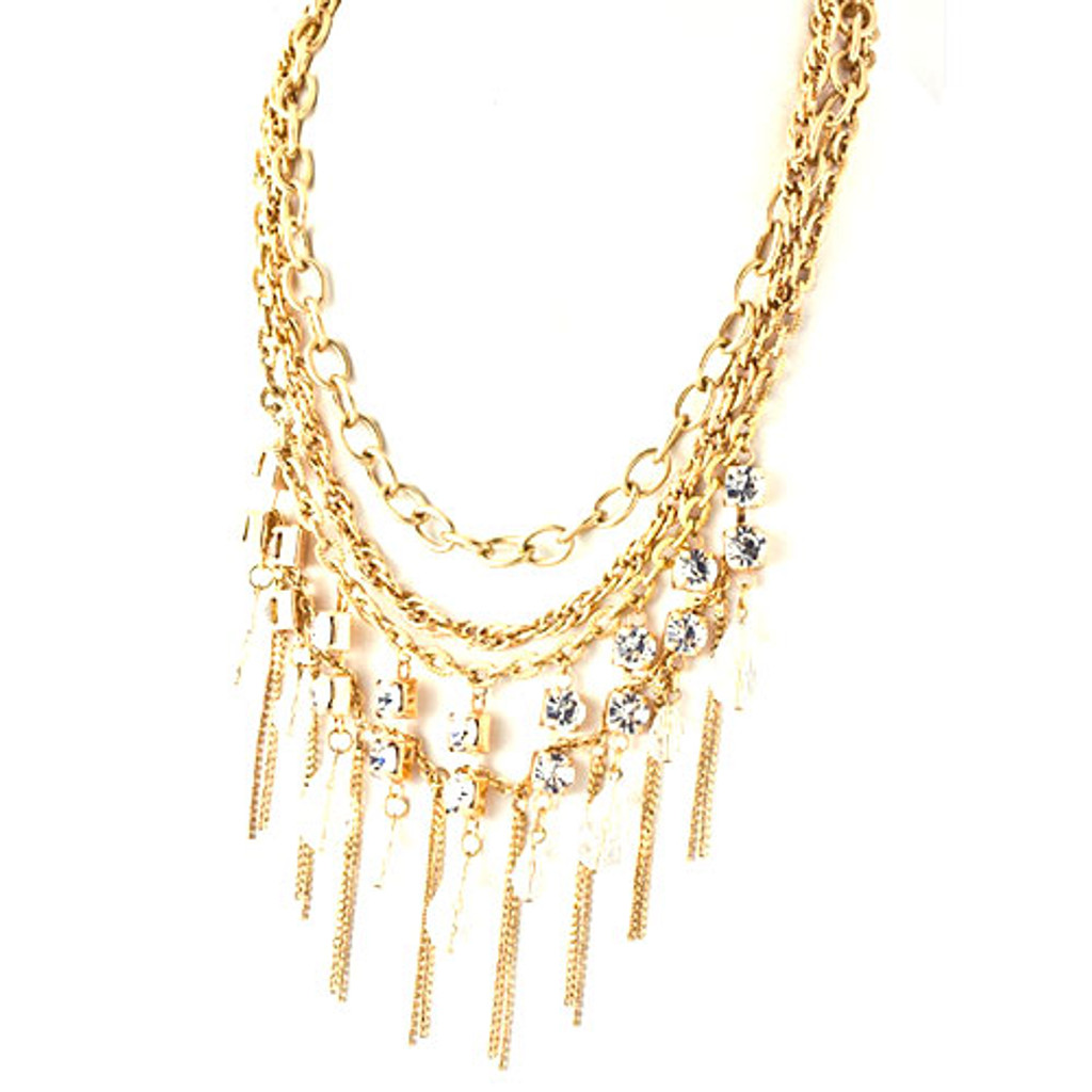 Chandelier Necklace Gold