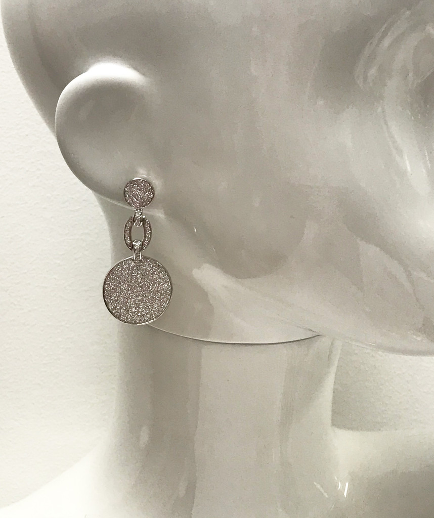 Smaller Signature Double Linked Pave Earring