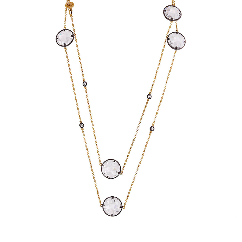 Long Crystal Station Designer Necklace