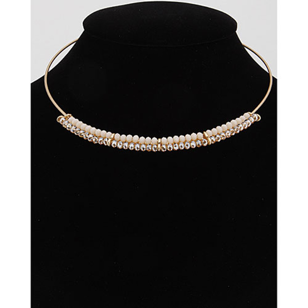 Modern Wire Beaded Collar