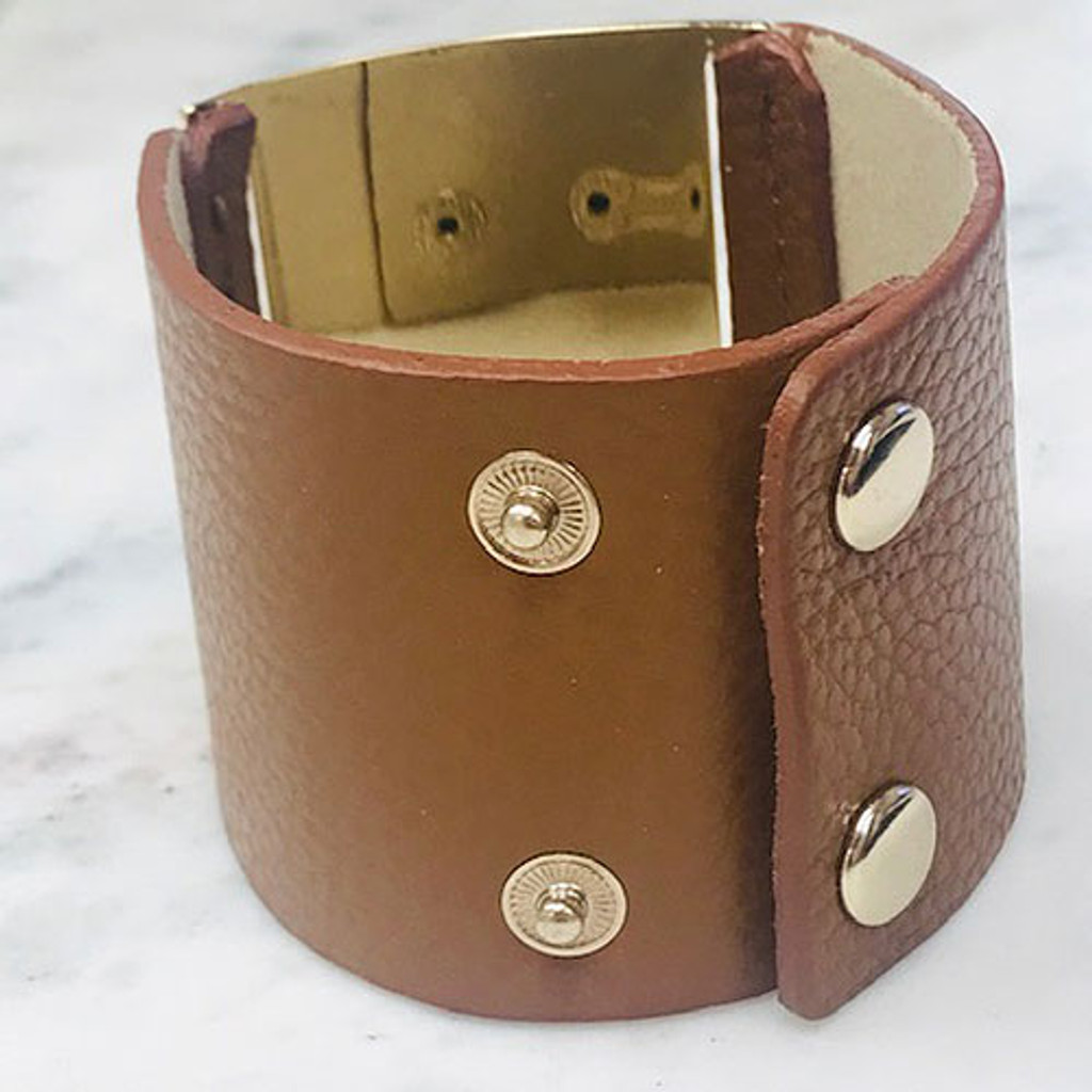 Brown Bold Metal Bracelet