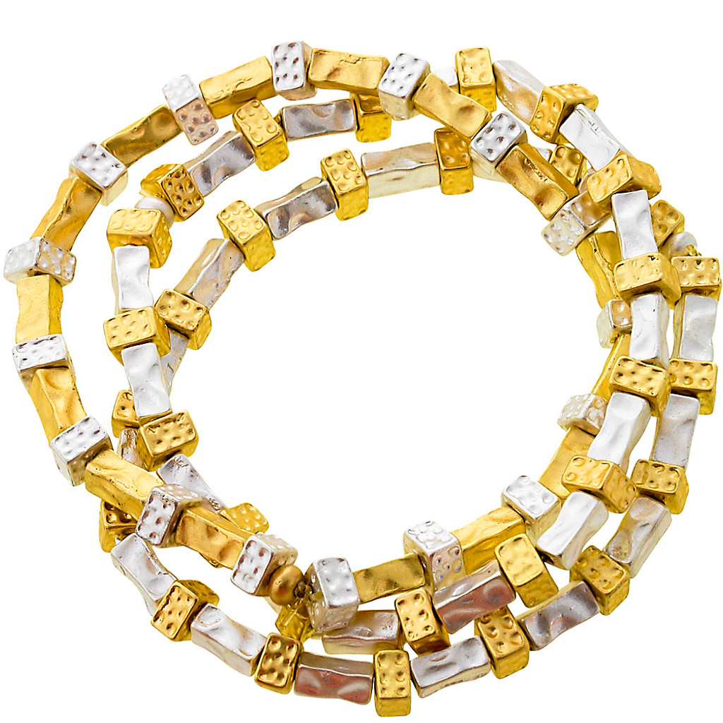 Metallic & Gold Stretch Bracelet