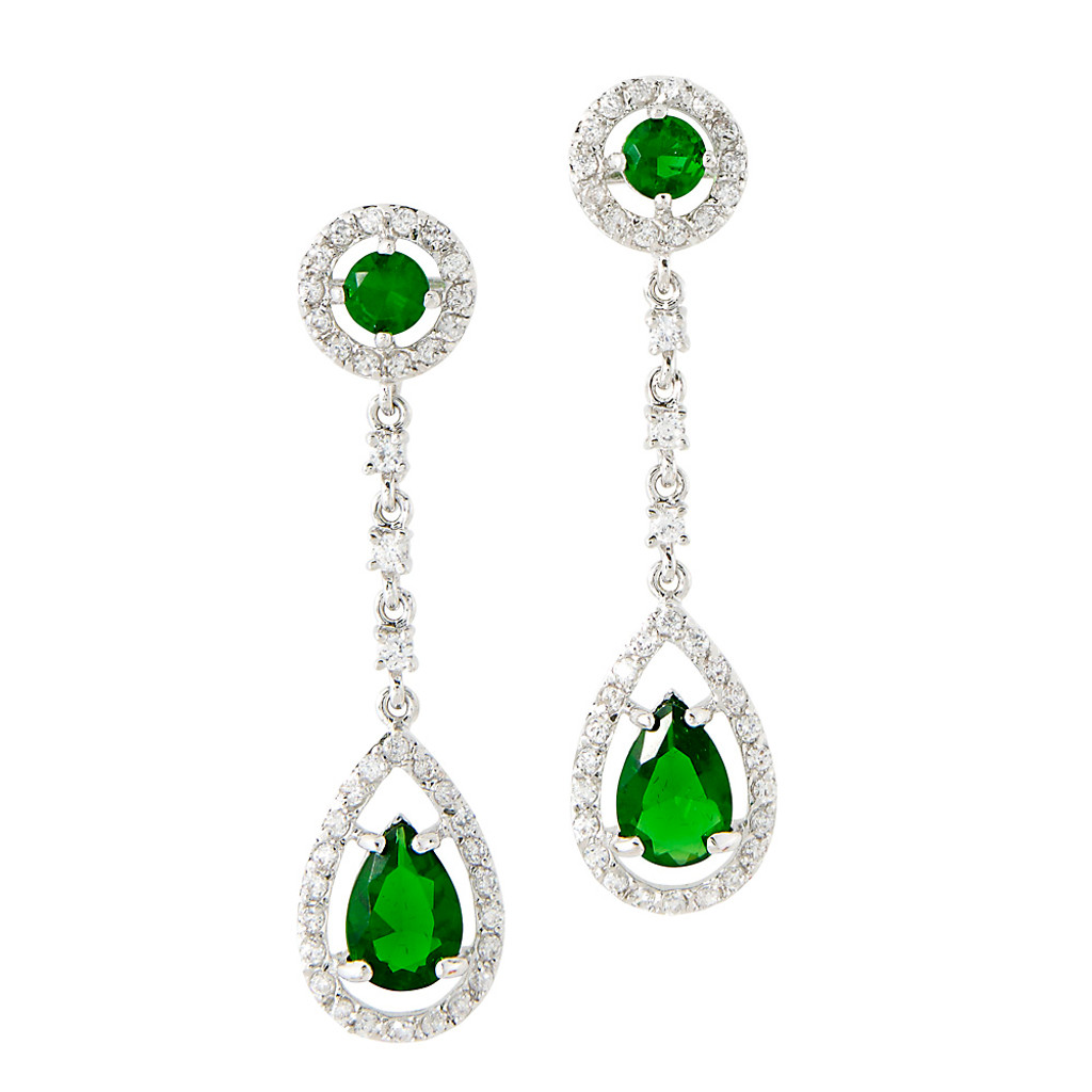 Bradgelina's Emerald Teardrop Dangle