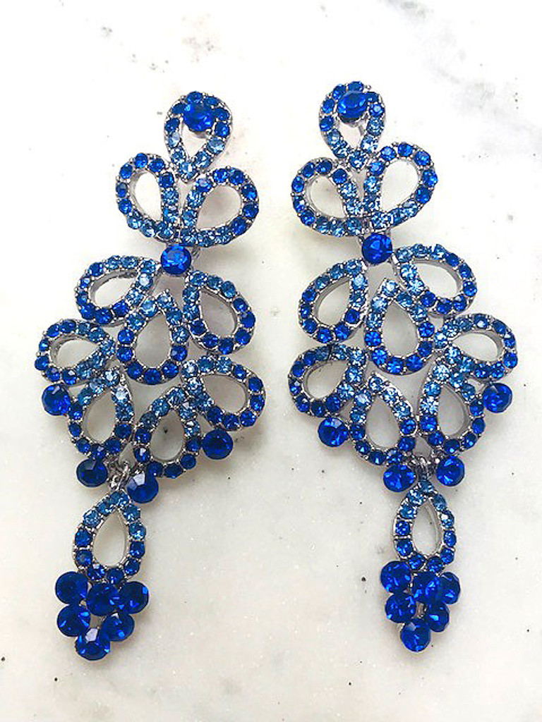 nchanted Blue Chandelier Earrings
