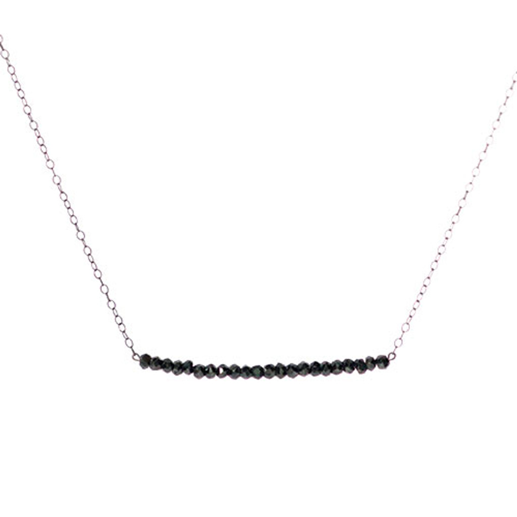 Black Spinal Bar Necklace