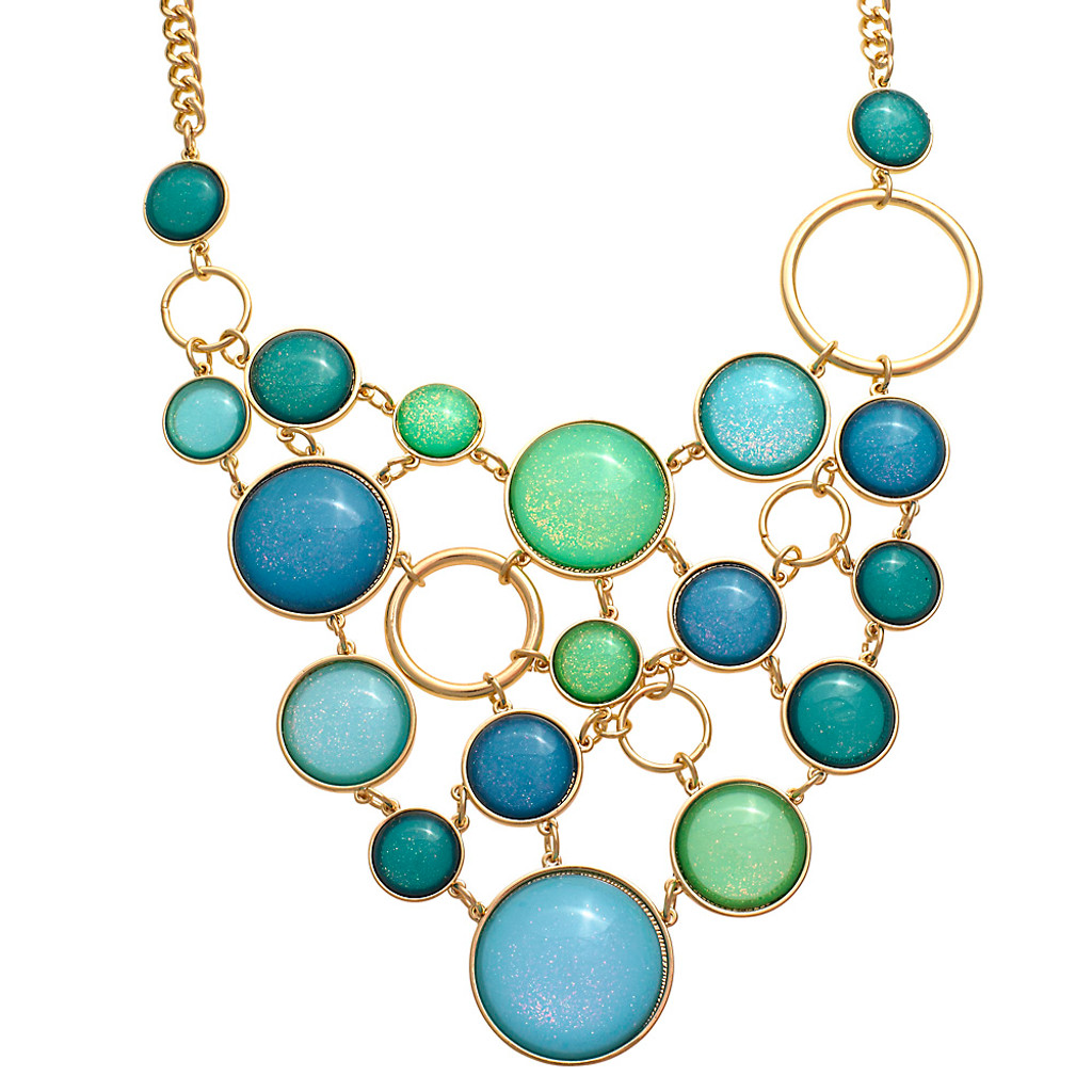 Blue Bubble Necklace