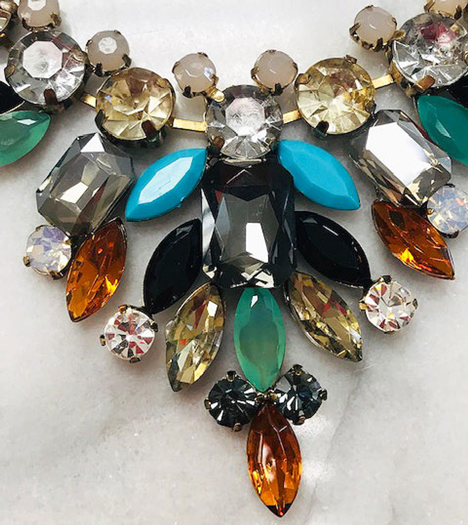 Autumn Crystal Statement Necklace
