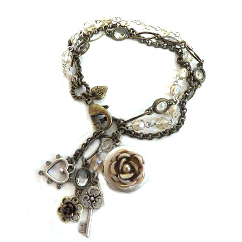 Heirloom Rose Locket Bracelet