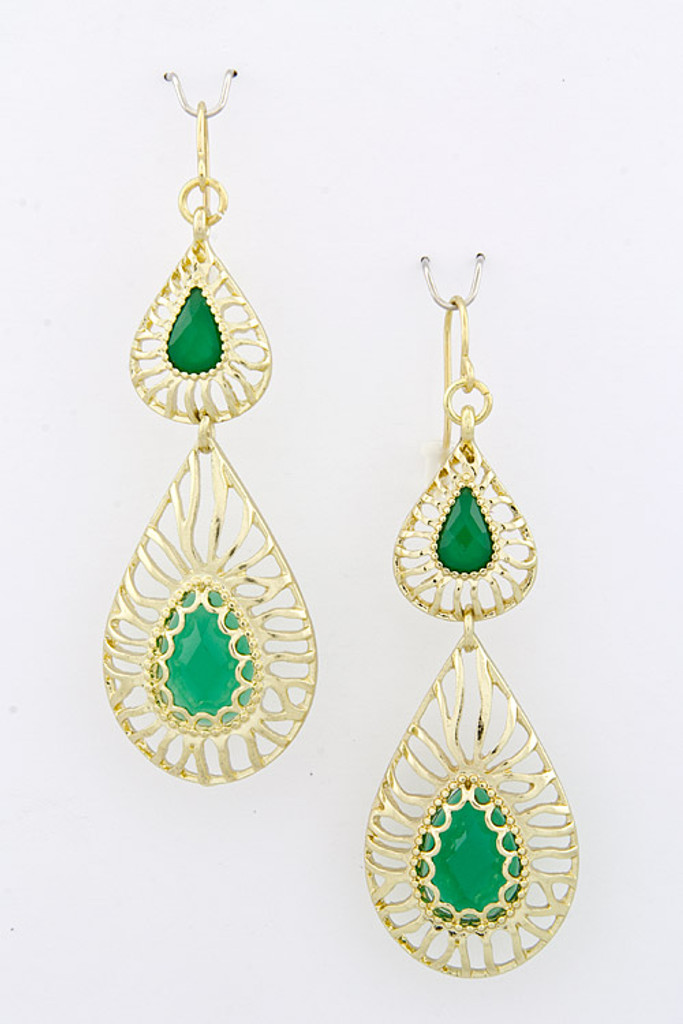 Double Droplets Of Emerald