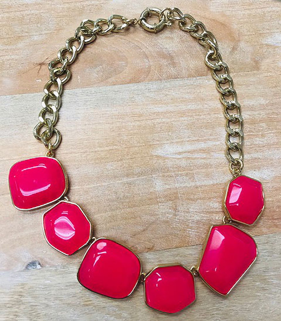 Organic Pink Baubles Necklace