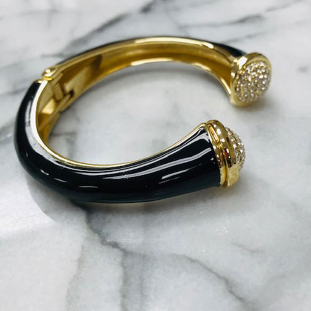 Pave Tip Open Bangle