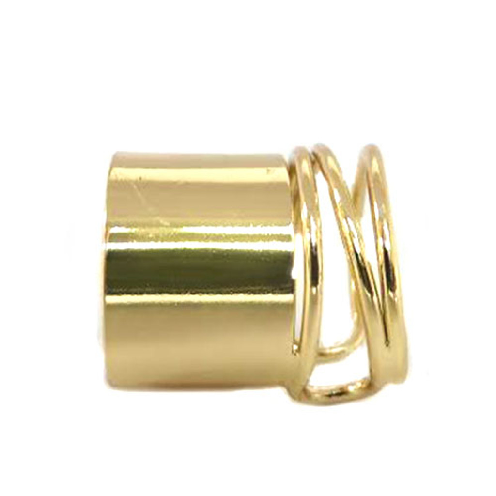 Gold Banded Coil Ring