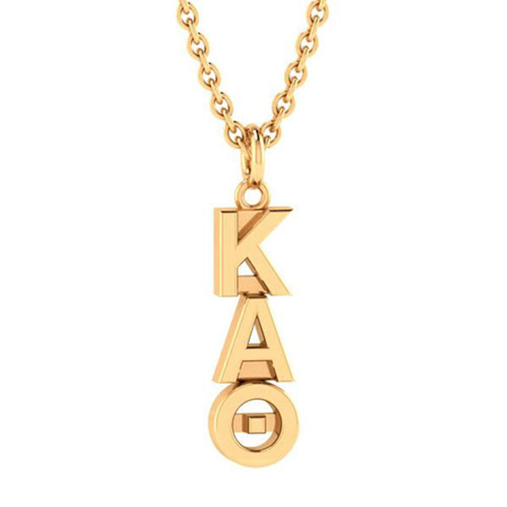 Kappa Alpha Theta  Gold Original Lavalier Necklace