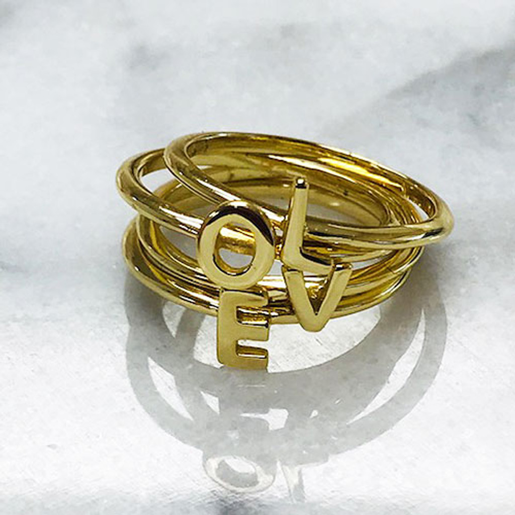 L-O-V-E Stackable Rings