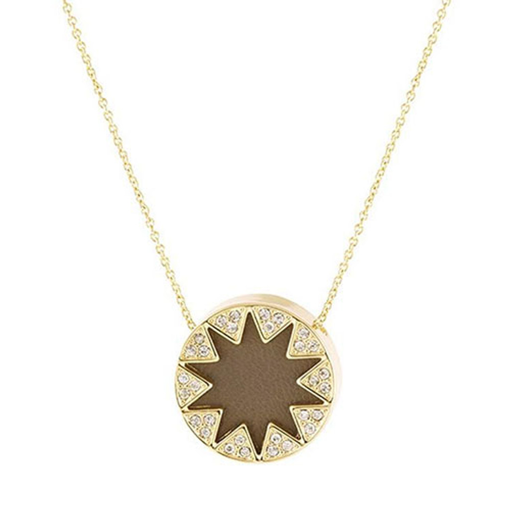 House of Harlow Mini Pave Sunburst-Khaki