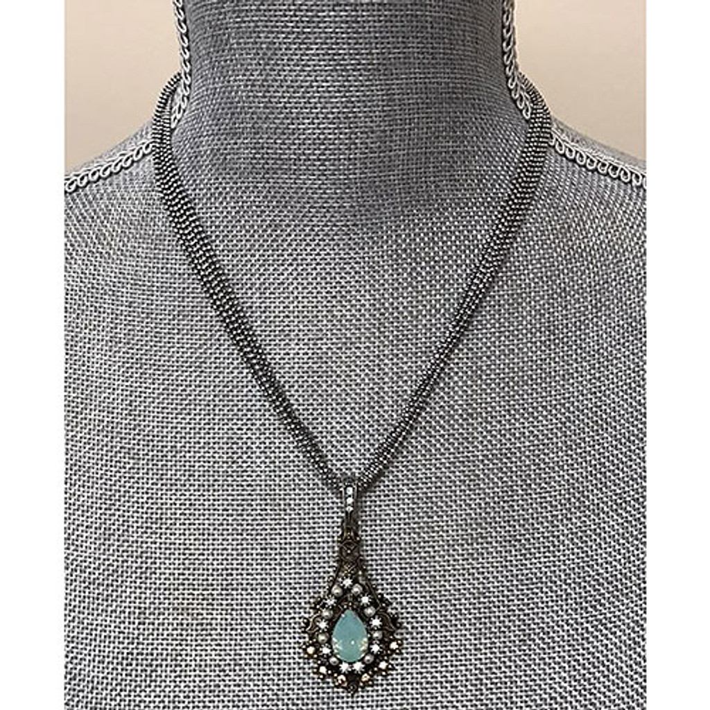 Pacific Opal Multi-Chain Pendant Necklace
