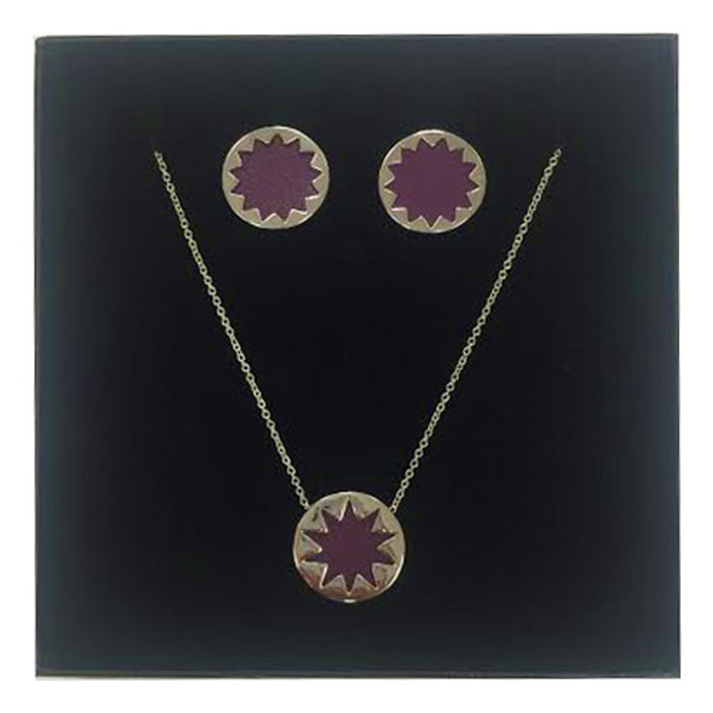 Limited Edition House of Harlow Aubergine Leather Gift Set