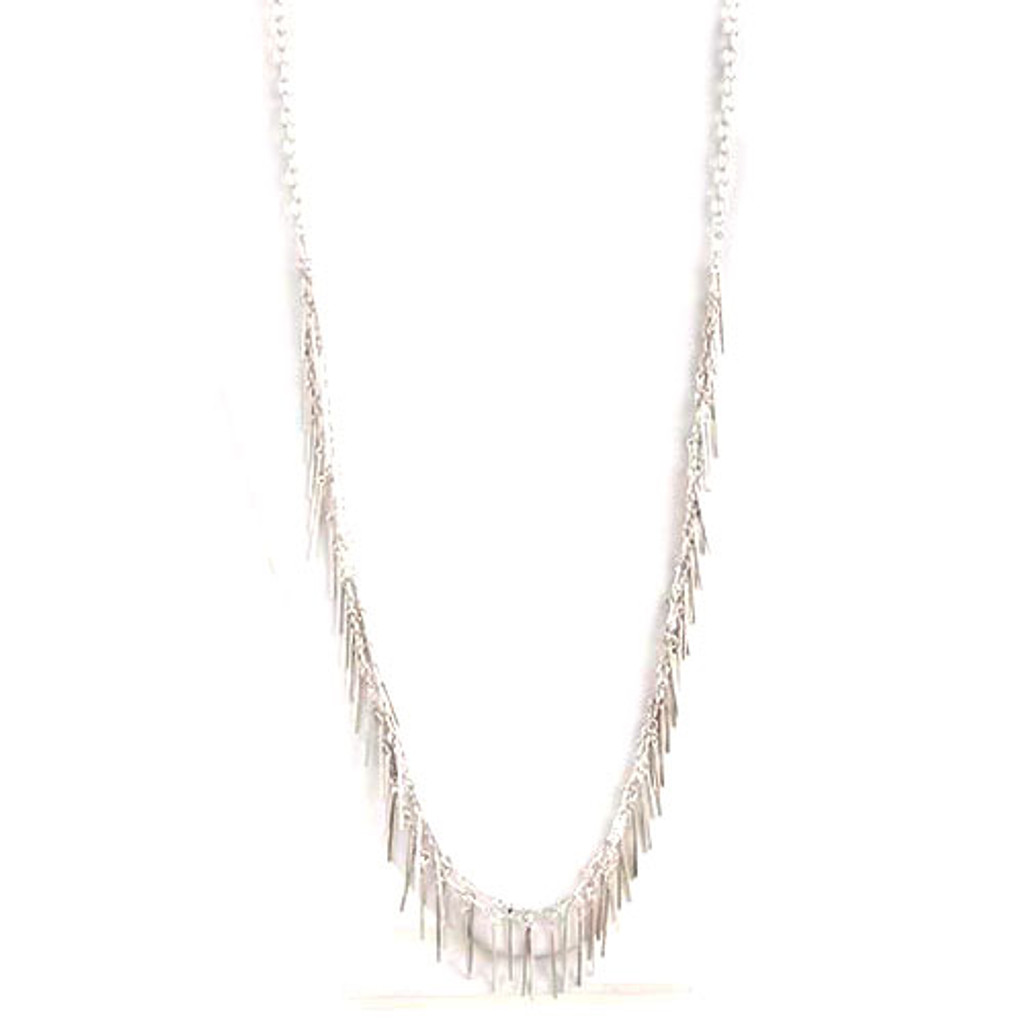 "40"" Slinky Fringe Chain Necklace 1"