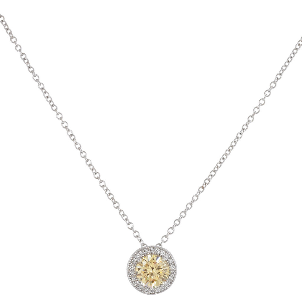 Lafonn's Round Canary Simulated Diamond Gemstone Necklace