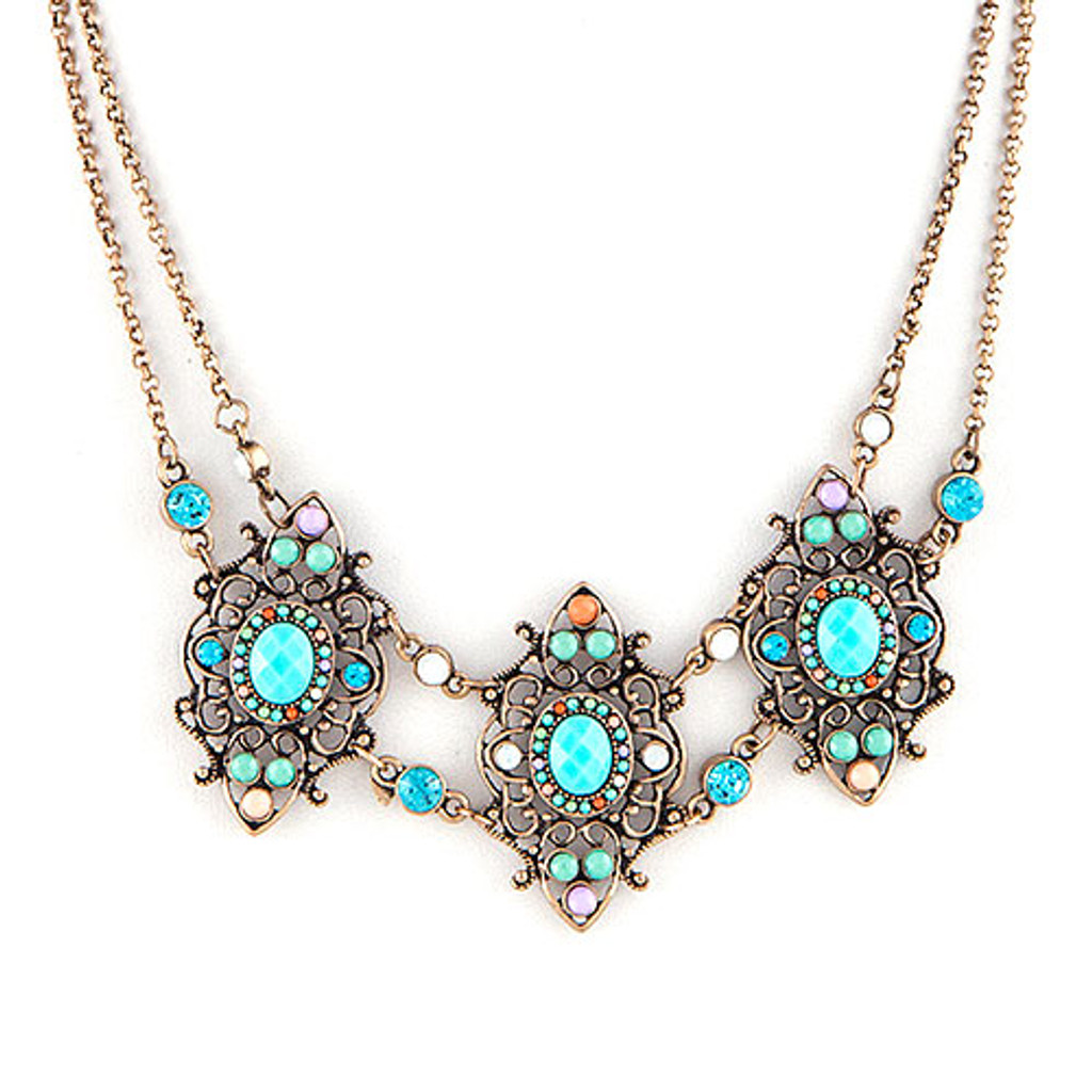 Marrakech Intricate Beadwork Necklace 1