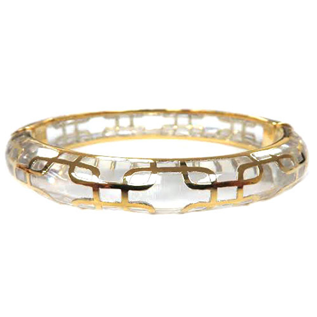 AHC's Clear Resin and Gold Sailor Bangle