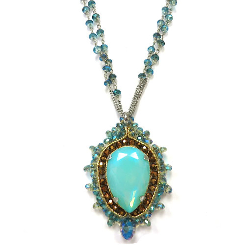 Pacific Opal with Double Crystal Chain