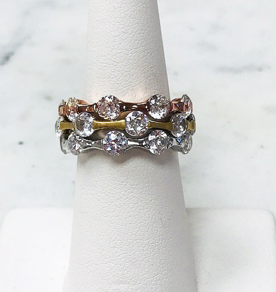 Tri-Colored Eternity Stackables