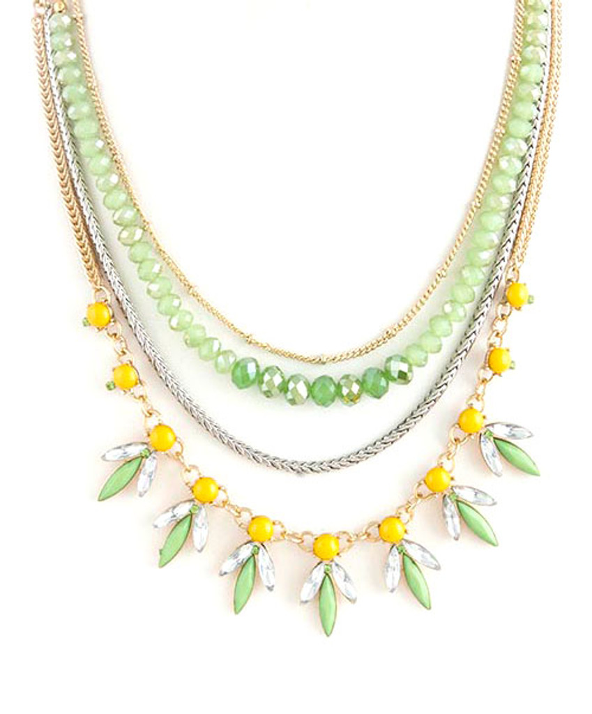 Citrus Layered Linked Necklace