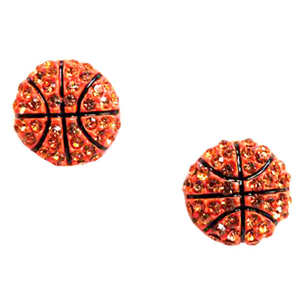 Basketball Crystal Studs