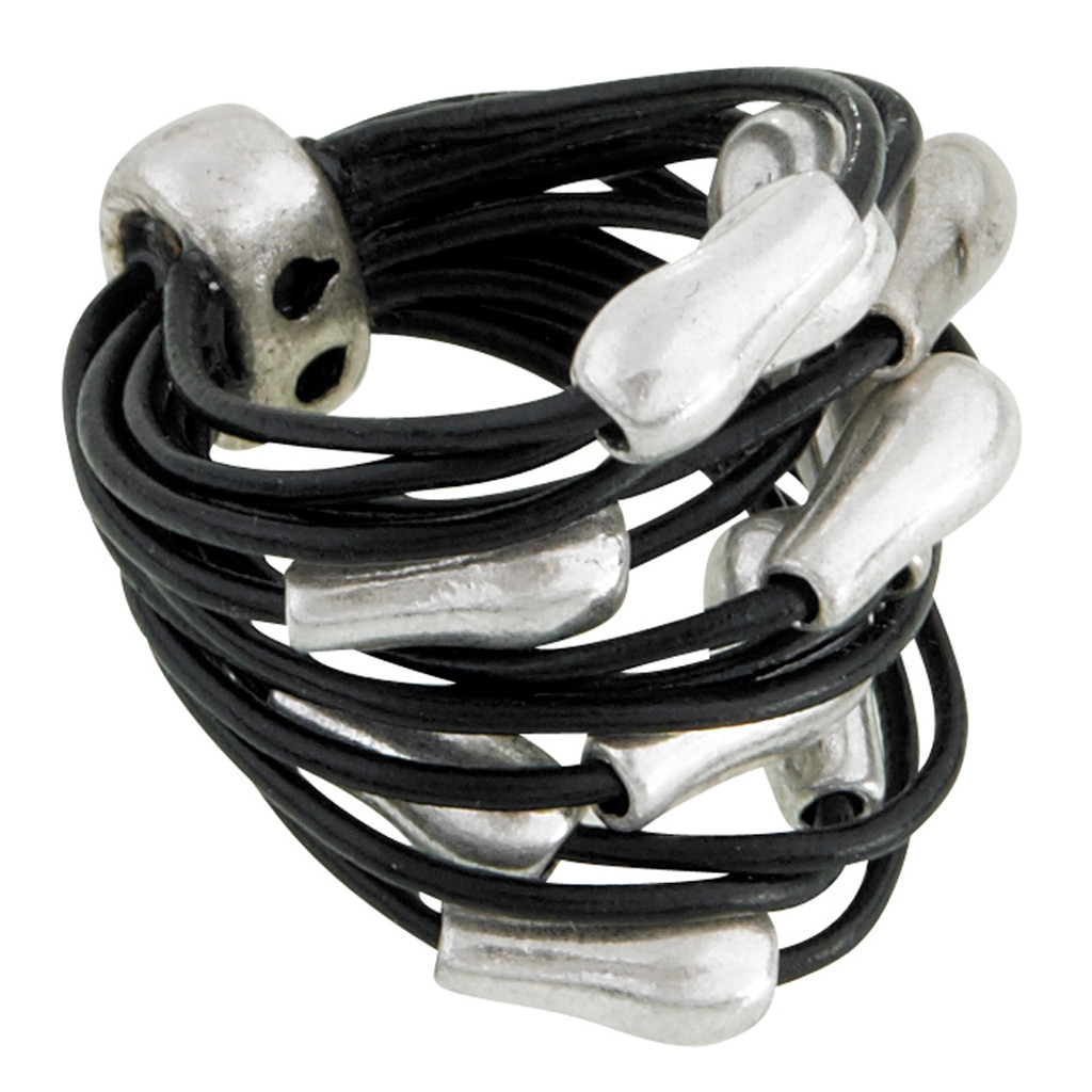 Multi-strand Leather Ring