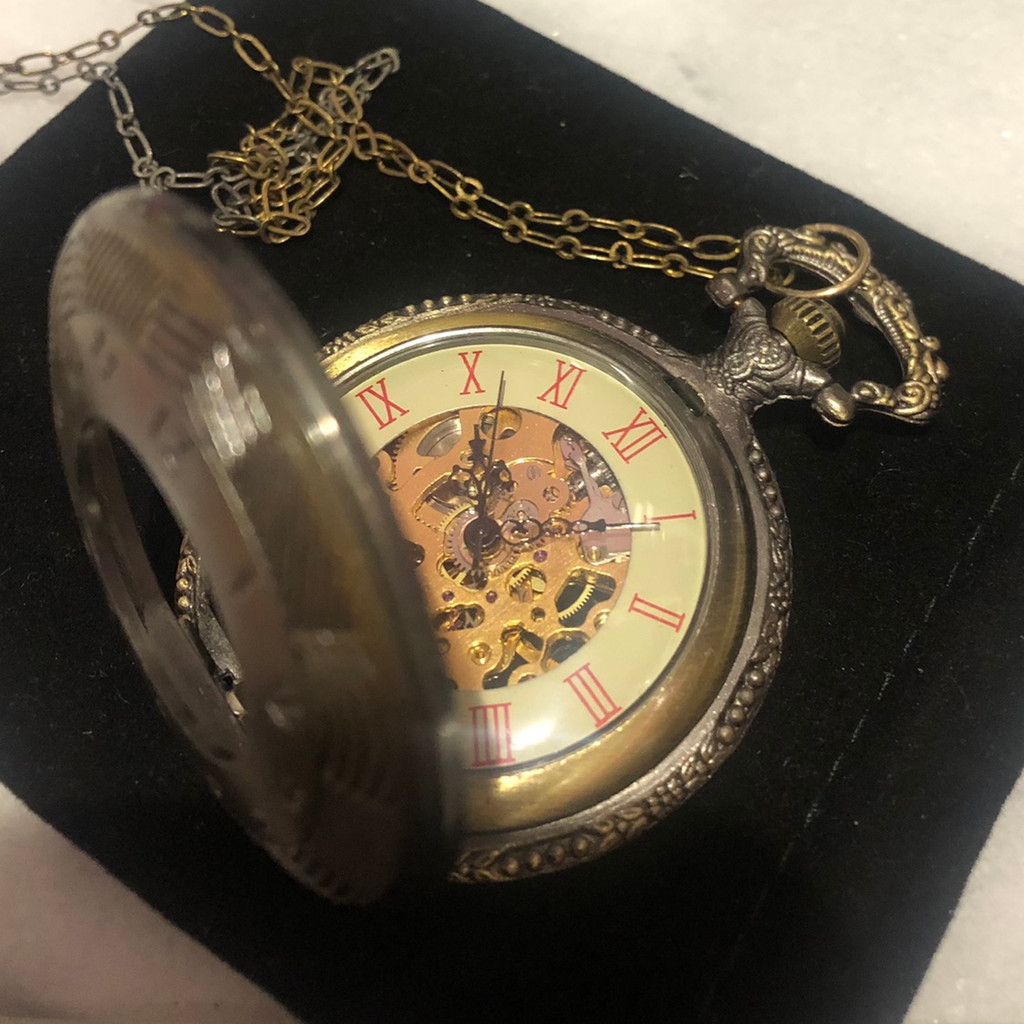 Exposed Watch Parts Pocket Watch Necklace