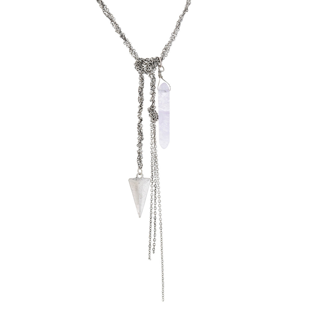 Quartz Crystal Empowerment Chain Necklace