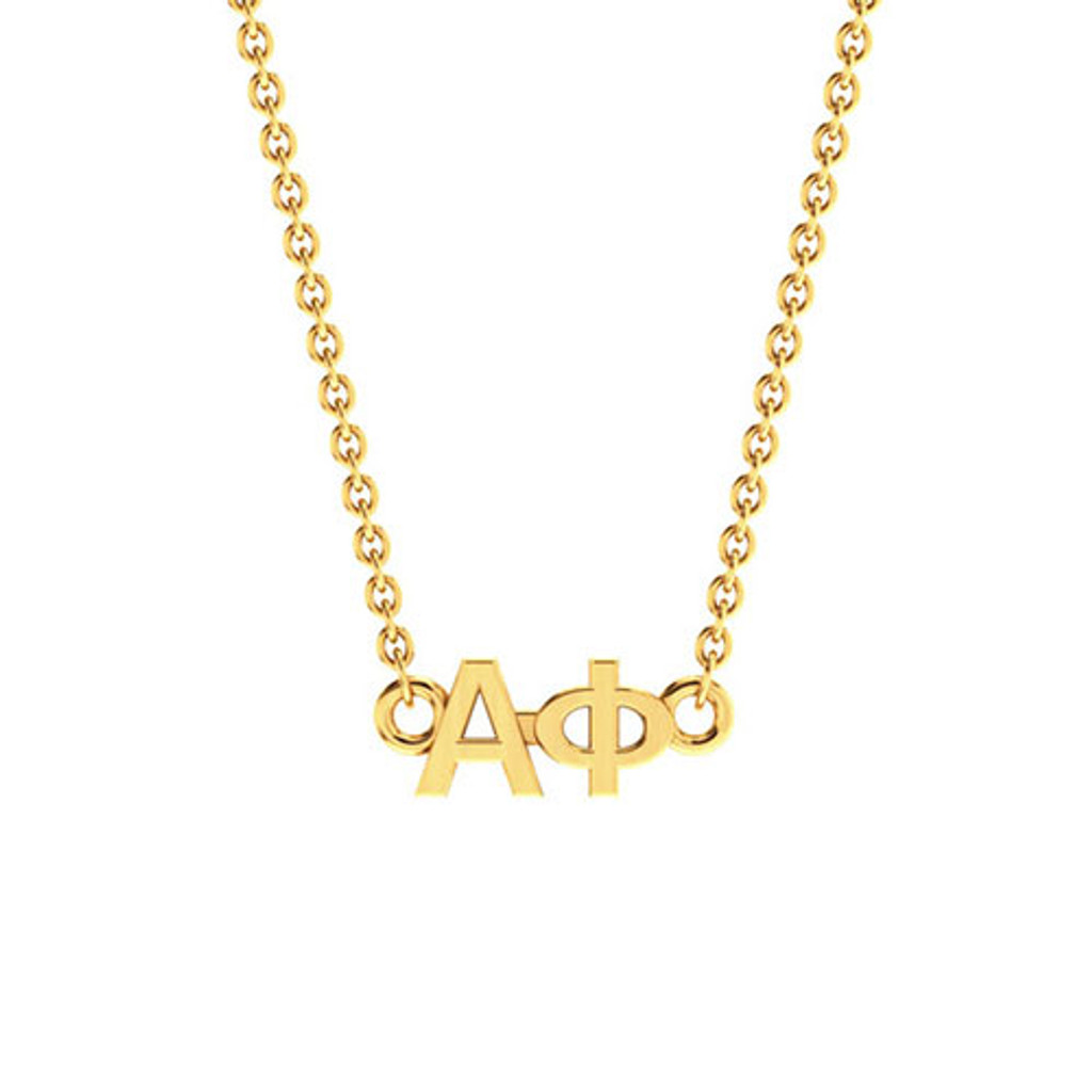 Alpha Phi Gold Horizontal Lavalier