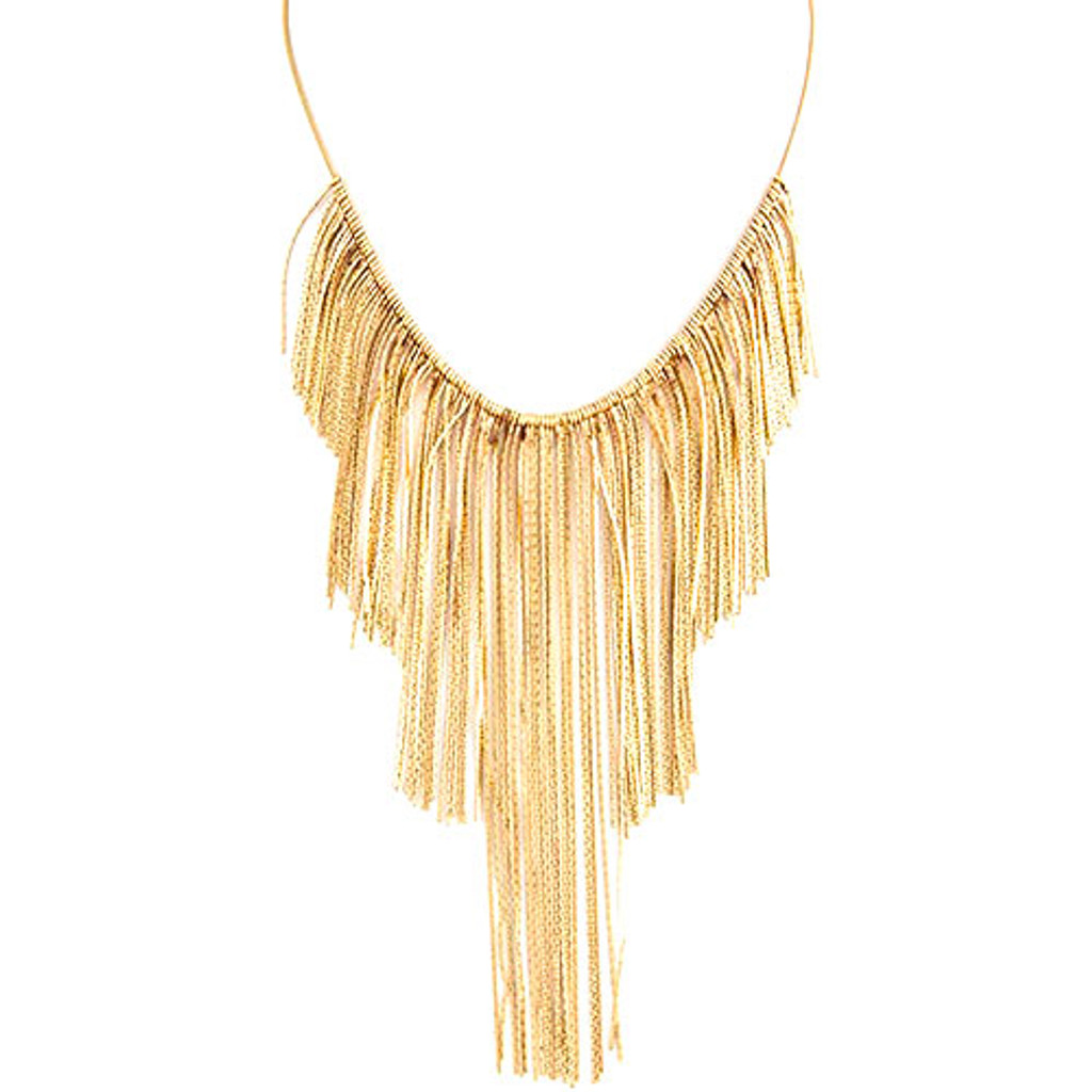 Delicate Mane of Fringe Necklace