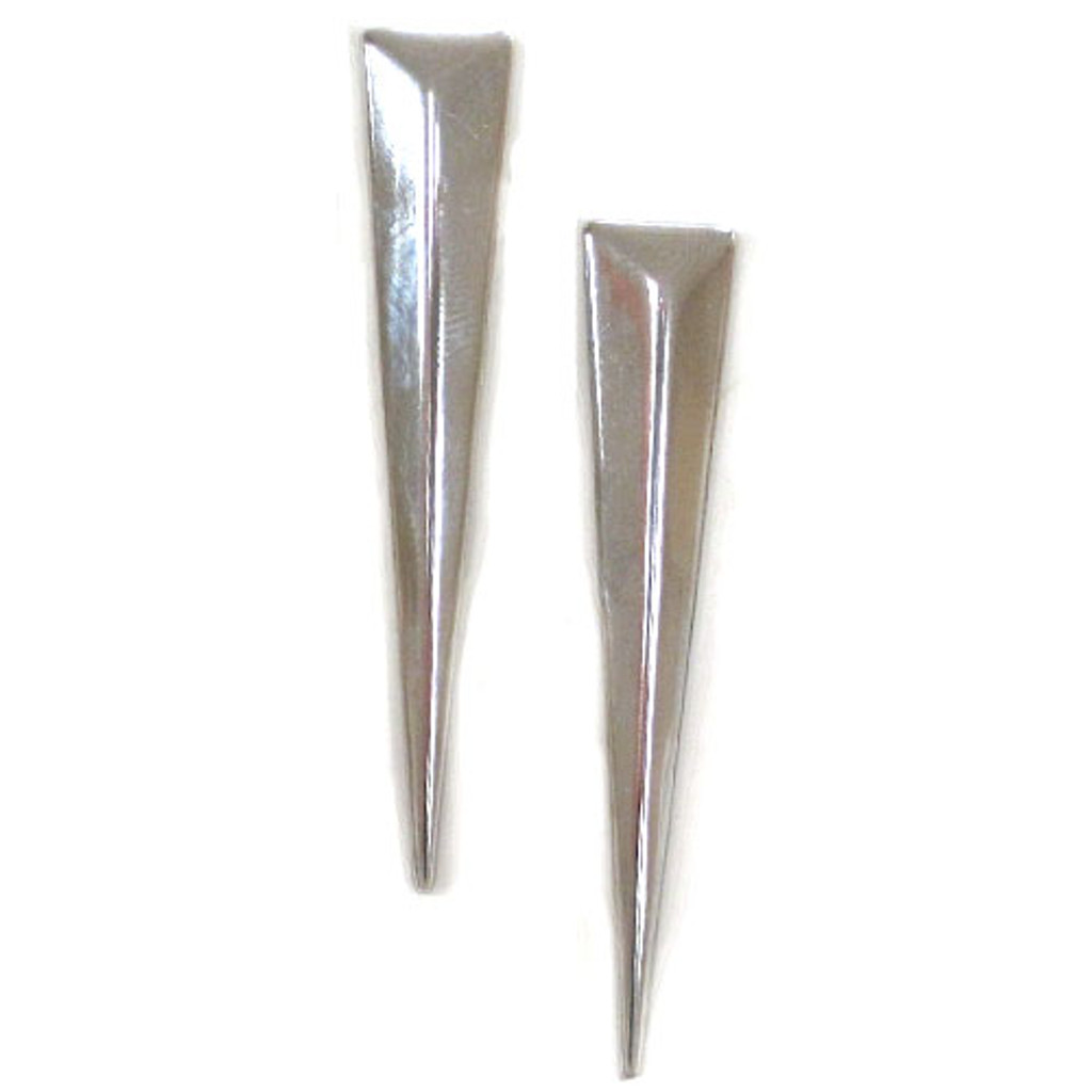 Geometric Silver Triangular Spike Earring