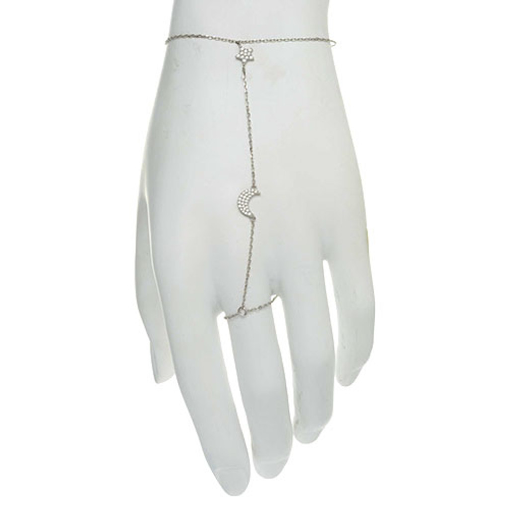 Moon and Stars Hand Harness Bracelet