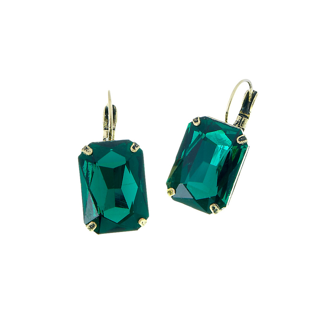 Emerald Cut Emerald Earring